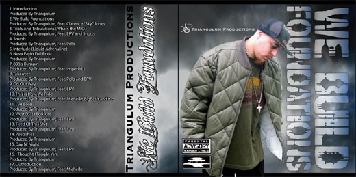 "Album cover Package for - Triangulum ""We Build Foundations"", his second solo"