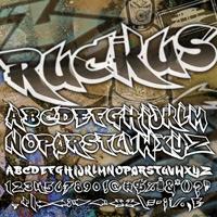 RUCKUS FONT GRAFFITI